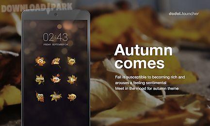 the autumn line launcher theme