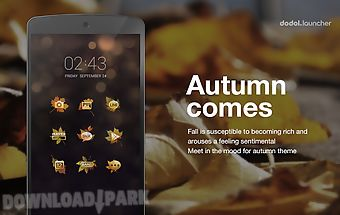 The autumn line launcher theme