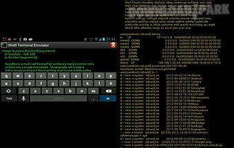 Shell terminal emulator android