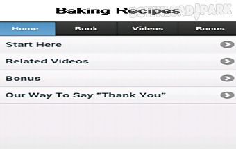 Baking recipes app