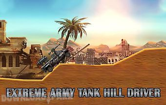 Extreme army tank hill driver