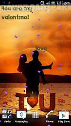 love at sunset romantic live wallpaper