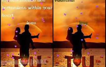 Love at sunset romantic live wal..