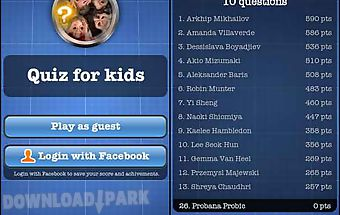 Quiz for kids free