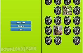 Koala bear memory game