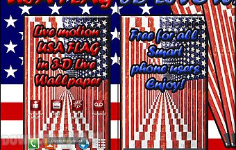 Usa flag 3d live wallpaper