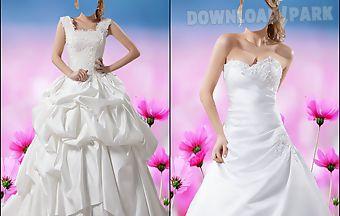 Wedding gown photo montage 2