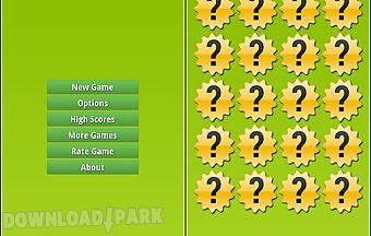 Wild animals memory game