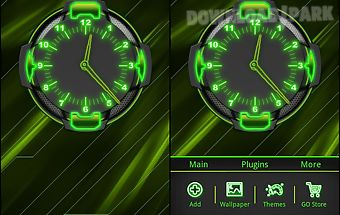 Neon green style go launcher
