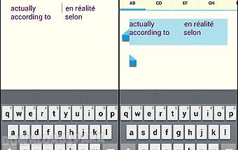 Alphabetical notepad