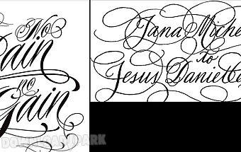 Calligraphy tatto fontart