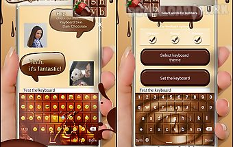 Keyboard skin dark chocolate