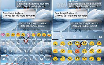 Swan heart emoji keyboard skin