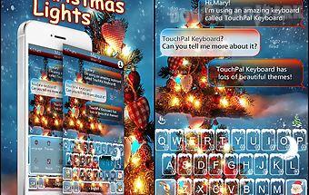 Warm christmas tree keyboard