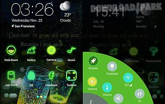 Glowing wonder - hola theme