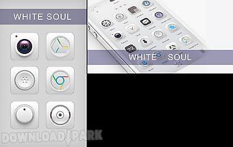 White soul go launcher theme
