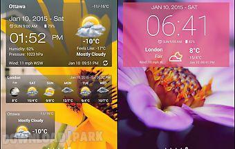 Weather clock widget android