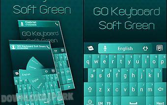 Go keyboard soft green theme