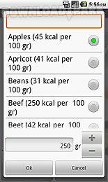 calorie calculator & food info