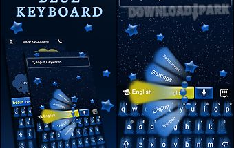 Go keyboard blue night theme