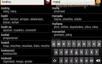 Czech - spanish offline dict.