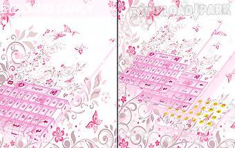 Keyboard fancy pink
