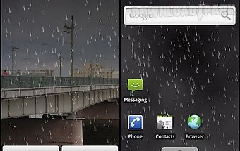 Rain live wallpaper demo