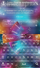 go keyboard color sparks theme