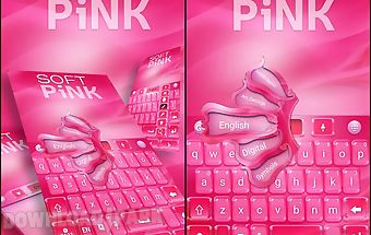 Soft pink go keyboard theme