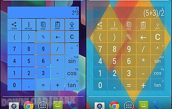 Widget calculator multicolor