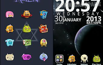 Alien go launcherex theme