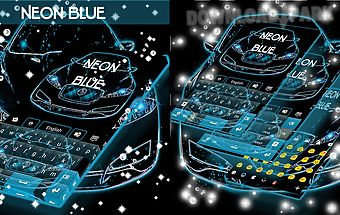 Neon blue cars go keyboard