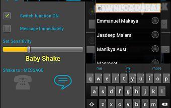 Shake to call/message free