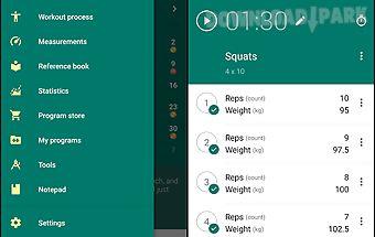 Workout gym log «gymboom»