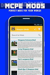 weapon mod for mcpe!
