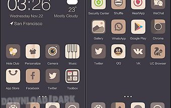 Dark woods hola launcher theme
