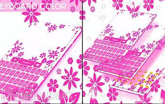 Keyboard color hot pink