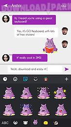 go keyboard hippo sticker