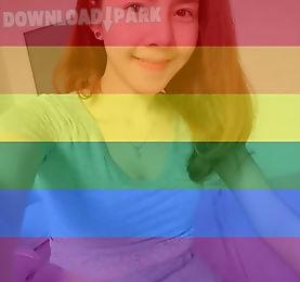 rainbow profile filter photo