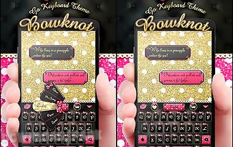 Bowknot go keyboard theme