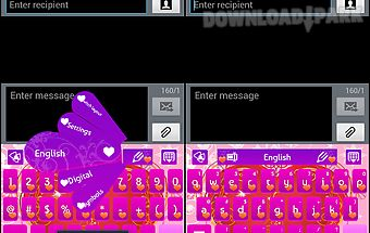 Go keyboard purple heart