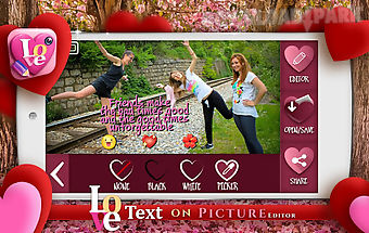 Love text on picture editor