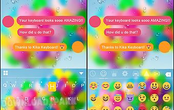 Color bubble emoji ikeyboard