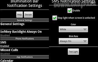 Illumination bar notification