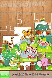 kids fill puzzles