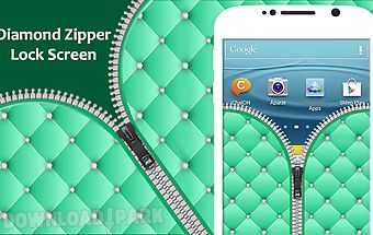 Diamond zipper lock screen