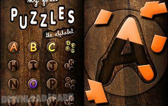 First kids puzzles: alphabet