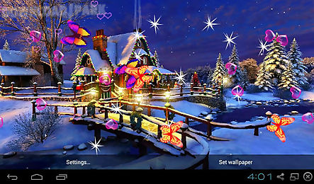 3d christmas wallpapers android anwendung kostenlose. Black Bedroom Furniture Sets. Home Design Ideas
