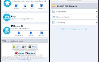 English - spanish flashcards