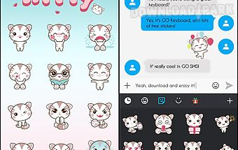 Go keyboard kitty sticker